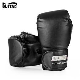 équipement de combat Promotion SUTENG 1 paire PU Boxe Kickboxing Formation Combat Gants de sacs de sable pour le combattant MMA Gants de boxe Équipement de conditionnement physique