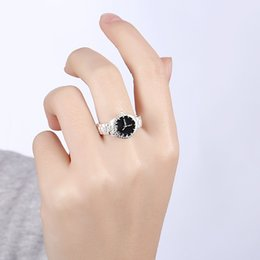 Wholesale charm watches sale - 2018 Hot sale Fashion lucky Ring watch shape charm silver ring luxury brand designer jewelry wholesale