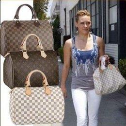 Wholesale Ladys Leather Shoulder Bag - Luxury Brand Women Totes Fashion Purse Classic Handbags Ladys Shoulder bag Brown Plaid Pillow BAGS PU