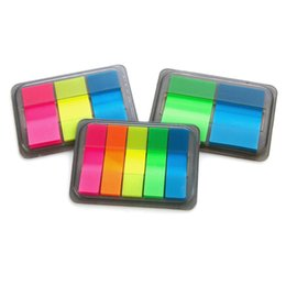 Wholesale Books Label - 36 Pcs Lot Rainbow Color Memo Pad Mini Post Sticky Note Book Marker Tag Label Notes Stationery Office School Supplies
