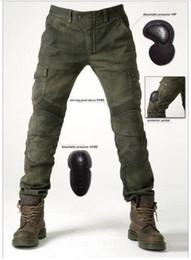 2019 pantalones de moto verde Para pantalones de motocicleta KOMINE todoterreno paseo en motocicleta jeans automóvil carrera pantalones VERDE pantalones de moto verde baratos