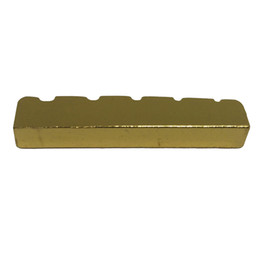 5 String Slotted Brass Gold Palted Electric Bass Guitar Bridge Nut 45.2 * 6 * 8 / 8.9mm-MUSIC от Поставщики гитара гайка долбежные