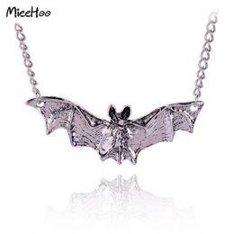 Wholesale Vampire Bats - whole saleMieehoo New Arrival Gothic Halloween Jewelry Necklace Bat Pendants Antique Silver Color Vampire Accessories For Women Drop Ship