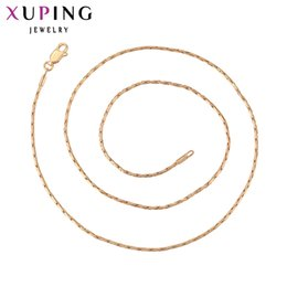 Wholesale Fashion Jewelry Deals - whole sale11.11 Deals Xuping Fashion Necklace New Design Long Necklace Gold Color Plated Women Chain Jewelry Top Sale Gift 42508