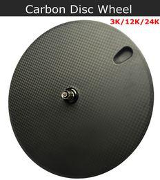 Rueda de disco de bicicleta de carbono, ruedas de disco de cubierta / tubular para bicicleta de pista / triatlón / rueda de disco de carbono de bicicleta de prueba desde fabricantes