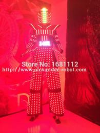 ha condotto i vestiti del robot Sconti Costume LED / Abbigliamento per ragazza a LED / Abiti leggeri / LED Robot per ragazza / ALEXANDER robot