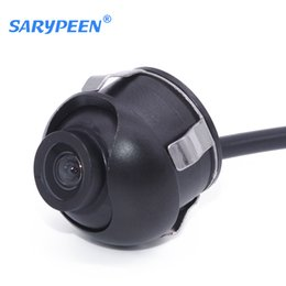 Wholesale Ccd Front View Car Camera - Promotion CCD HD night vision car rear view camera for 360 degree Rotation front view side view Universal camera Free Shipping