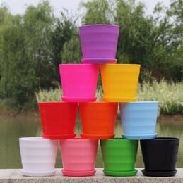 Wholesale plant pots sale - Free shipping Hot Sale RetroStyle Plastic Bonsai Pot Balcony Square Flower Planter Nursery Pots Basin Maceta Cuadrada Wholesale