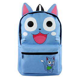 Bolso de escuela totoro online-Fairy Tail moda bolso de escuela feliz UNA PIEZA informal bolso al aire libre Mi vecino Totoro bolsa de viaje