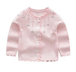 Wholesale Wholesale Fall Clothing - Girl clothes little floral design cardigan sweater coat sets girl top fall sweaters
