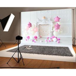 2019 8x8ft foto sullo sfondo Nuovo arrivo 1 pz 7x5ft Bambino compleanno vinile photography sfondo sfondo ballon partito per puntelli Photo Studio