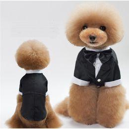 2019 roupas para cães machos New Dog Clothes Wedding Suit Vestido para Masculino Dog cat filhote de cachorro pequeno vestido de casamento frete grátis roupas para cães machos barato