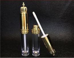 Argentina 8 ml Botella Brillo de Labios con Tapa Corona Plástico Transparente Brillo de Labios Tubo Bálsamo Labial Botella Envase Cosmético wen5618 Suministro