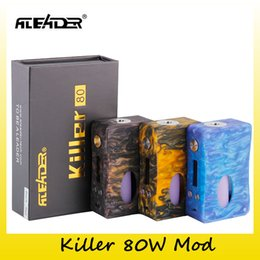 Wholesale bottles for oils - Authentic Aleader Killer 80W BF Squonker TC VW Box Mod 18650 Battery With 7ml Capacity Oil Bottle Mods For Original 510 Thread Tank