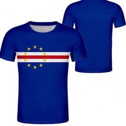 CABO VERDE camisa de la juventud masculina camiseta personalizada nombre personalizado país camiseta bandera de la nación cv universidad portuguesa imprimir foto isla ropa desde fabricantes