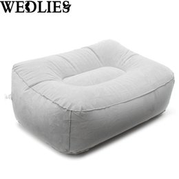 Wholesale Foot Rest Pad - PVC Gray Train Flight Travel Inflatable Foot Rest Pillow Portable Pad Mat Footrest Pillow Home Outdoor Foot Relief Cushion