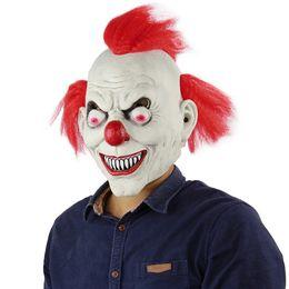 2019 masques de clown effrayants Clown Costume TV Masque Effrayant Mal Effrayant Halloween Masque De Clown Adulte Fantôme Fête Fête Horreur Masque De Clown Fournitures Décoration promotion masques de clown effrayants