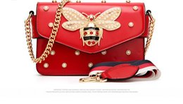 bolsa de abelha Desconto 2018 Mulheres Cor Splicing Little Bee bolsa Moda bolsas de luxo Designer de bolsas de ombro Designer de Ombro Ocasional Saco Do Mensageiro corpo cruz saco 98