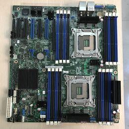 Server cpu della scheda madre online-Per Inter S2600CP X79 Doppia scheda madre per server LGA 2011 Supporto DDR3 CPU E5-2680V2