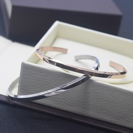 Wholesale pearl bangle bracelets - High quality DW Bracelets Cuff Rose Gold Silver Jewelry Stainless steel Men Men's Bangle Silver Women Women's Bracelet with Original box
