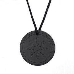 Wholesale Pendant Quantum - whole saleFashion Males Accessories Black Quantum Scalar Energy Pendant ions Energy Power Trendy Men Necklace Jewelry As Gift