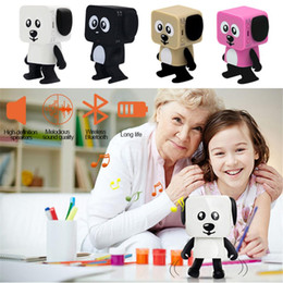 Wholesale Mobile Phone Smart Card Reader - Smart Dancing Dog Speakers Mini Cartoon Bluetooth Dance Robot Dog Speaker Lovely for The Children Gift