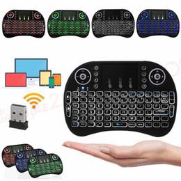 tv pad android Promotion Mini clavier i8 rétro-éclairé pour Android TV Box télécommande 2.4G clavier sans fil avec pavé tactile pour Smart TV PC
