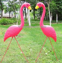 Animais de quintal on-line-Animal Aniversário 1 par de Plástico Rosa Jardim Jardim De Infância E Gramado Art Ornamento Cerimônia De Casamento Decoração De Plástico
