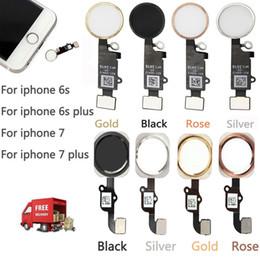 Pulsanti domestici di iphone online-Per iPhone 7 7 Plus Home Button con Flex Cable Assembly Parti di ricambio per iPhone 5 5s 6 6s