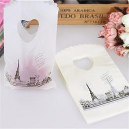 Tour Eiffel Mini Bijoux En Plastique Cadeau Emballage Sacs Avec Poignées Petit Cadeau Sacs Vente Chaude Nouveau Style En Gros 50 pcs / sac ? partir de fabricateur