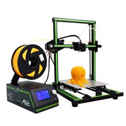 repus prusa i3 kit Rabatt Anet E10 3D Drucker DIY 3D Drucker Kits mehrsprachige Software Aluminiumlegierung Rahmen Super Gebäude Volumen mit 8 GB TF-Karte