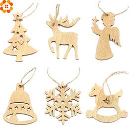 Ornamenti ornamenti per bambini online-12 PZ GoldSliver FAI DA TE Fiocchi Di Neve Di Natale Pendenti In Legno Ornamenti Decorazioni per la Festa Di Natale Xmas Tree Ornamenti Regali per Bambini