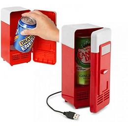 Piccolo interruttore online-Mini frigo USB con interruttore piccolo e freddo piccolo frigorifero piccolo uso Mini frigo USB USB