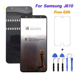 fita digitalizadora Desconto Para samsung j610 tela lcd touch screen digitador assembléia tela de substituição de 6.0 polegadas Completa Com Dupla Face Fita Adesiva À Prova D 'Água