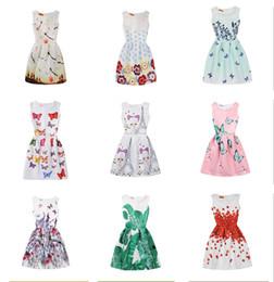 7dd1a8164 butterfly printing dresses girls Promo Codes - Baby Girls Floral Butterfly  Print Dress 2018 summer Big