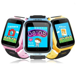 Wholesale Sos Devices - Original Q528 Y21 GPS Smart Watch With Flashlight Baby Watch 1.44 inch OLED Screen SOS Call Location Device Tracker for Kid Safe