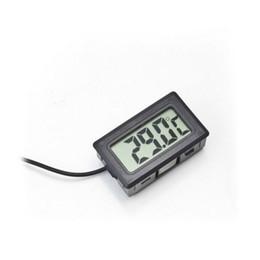 Termómetro digital para neveras online-Hot Digital LCD Termómetro de la pantalla Refrigerador Nevera Congelador Acuario FISH TANK Temperatura -50 ~ 110C GT Negro blanco Color w1128