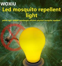 Mosca plantas on-line-WOXIU levou o crescimento da planta Mosquito assassino lâmpadas anti eficaz inseto voador inseto traça luzes do candelabro amarelo E27 7w 110-260 V