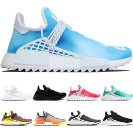 2019 scarpe uomo casual Adidas Boost NMD Human Race the details page for more Logo Human Race trail Running Shoes Uomo Donna Pharrell Williams HU Runner Nerd Nero Bianco Peace Passion Younth Casual Sneakers sportive scarpe uomo casual economici