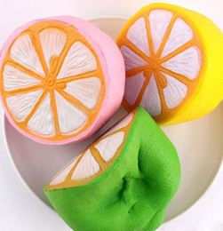 Wholesale Lemon Charms - Hot Sell 11.5cm Jumbo kawaii Squishy Big Lemon Simulation Fruit Slow Rising Squishies Scented Stress Relief Toy Charms Kids Xmas Gift