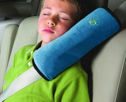 black seat belts 2018 - Blue Pink Beige Grey Baby Safety Strap Car Seat Belts Pillow Protect Shoulder Pad Car Safe Fit Seat Belt Adjuster Device Auto Safety Belts