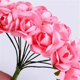 Caixas de ameixa on-line-Feitas À Mão Simulação Buquê De Flores De Casamento Caixa De Doces Decoração Flores Artificiais Plum Blossom Multi Cor Venda Quente 8sf Ww