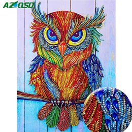 Corujas artesanato on-line-Atacado Pintura Diamante Imagem Animal De Strass Beadwork Coruja Especial Forma de Diamante Mosaico Venda Artesanato Kit Home Decor 40x30 cm