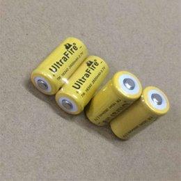 2019 батареи cr123a Высокое качество желтый UltreFire батареи CR123A /16340 2600 мАч 3.7 В аккумуляторная литиевая батарея Бесплатная доставка