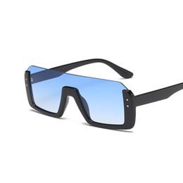Новые модные солнцезащитные очки онлайн-2018 new trendy designer flat top sunglasses women luxury big half frame sunglasses men