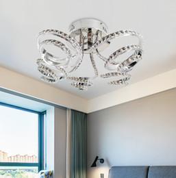Candelabro moderno teto alto on-line-Moderna de alta qualidade cromado cor K9 lustre de cristal do teto da lâmpada de alumínio LEVOU luzes de teto 115 W para o quarto sala de estar