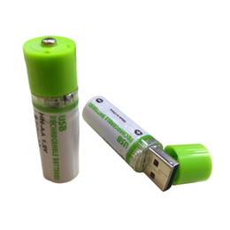 Wholesale Aa Rechargeable Batteries - Mini AA Battery Nimh AA 1.2V 1450MAH Rechargeable Battery NIMH USB AA 1450 With Colorful Card