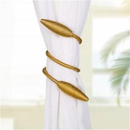 tende alle spalle Sconti Moda finestra Tie Backs Holdbacks per la decorazione domestica Torsione regolabile Bagno Tende Accessorio pratico nuovo arrivo 9qn BB
