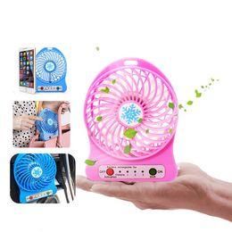 Wholesale Only Fans - Rechargeable fan 3 gear speed 4.5W 3.7V mini USB cooling fan with retail package