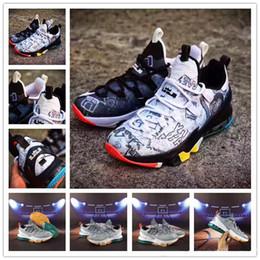 best sneakers cd5eb 139e5 Haute Qualité LeBron 13 XIII Élite lbj BHM Loup Gris Chaussures De Basket-ball  Hommes Ce Que Le Noir Blanc Chaussures Taille 40-46